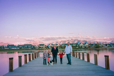 Our family enjoying the wide open spaces and the mountains that surround them.