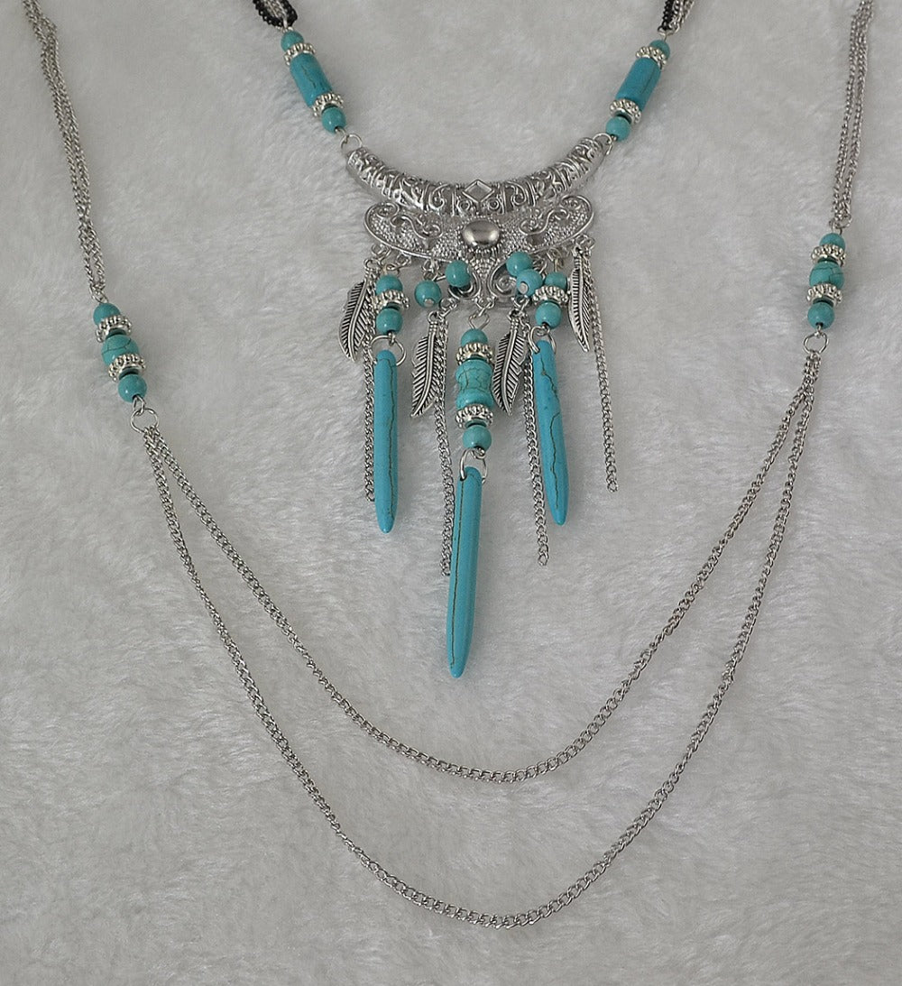 design handmade hortons chunky jewellery bauble turquoise necklace