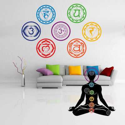 7 Chakras Vinyl Wall Decals