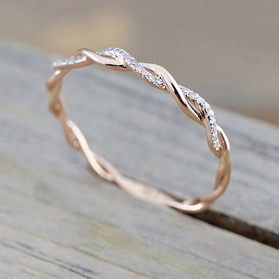 Vintage Twist Stacking Ring