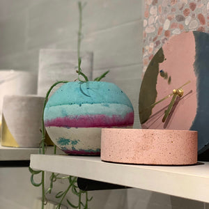 concrete colorful vessels