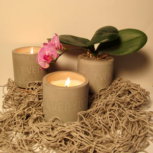 concrete detailed candles