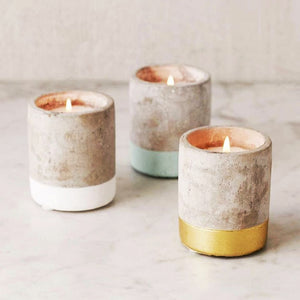 concrete fragranced candle