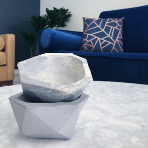 concrete geometric bowl
