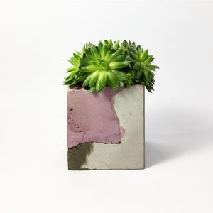 concrete colorful rectangular vessel