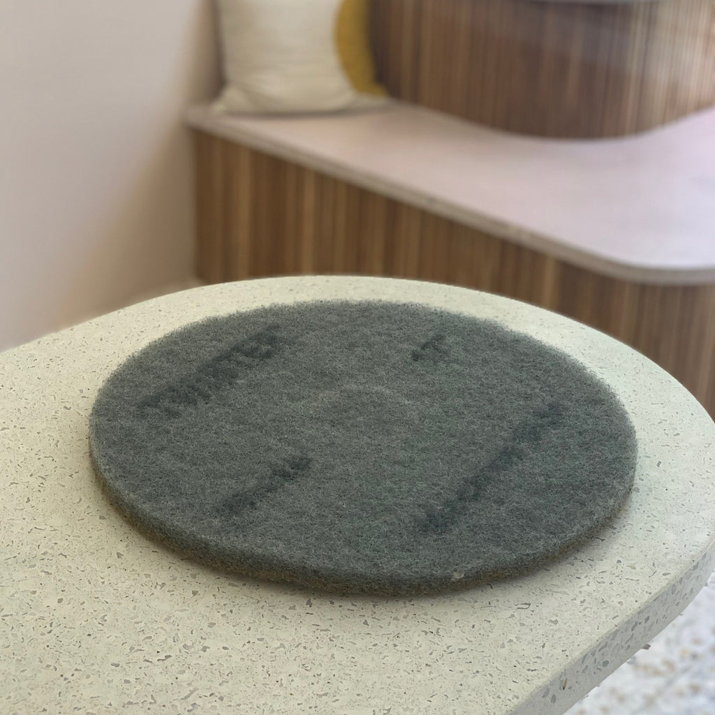 concrete care  //  buffer pad