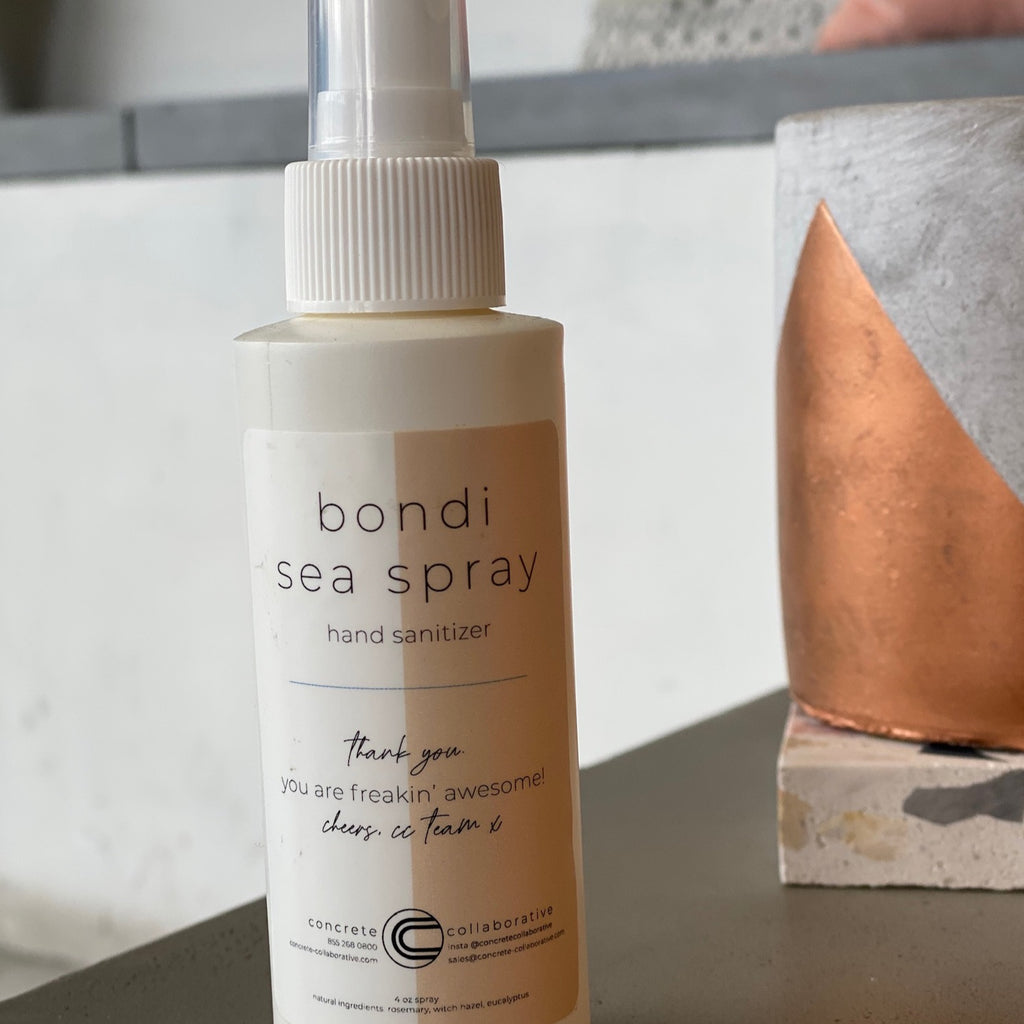 concrete love  //  bondi sea spray sanitizer