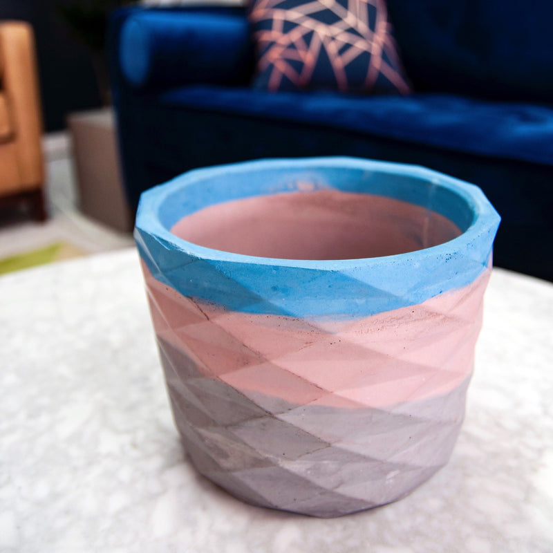 concrete geometric pot