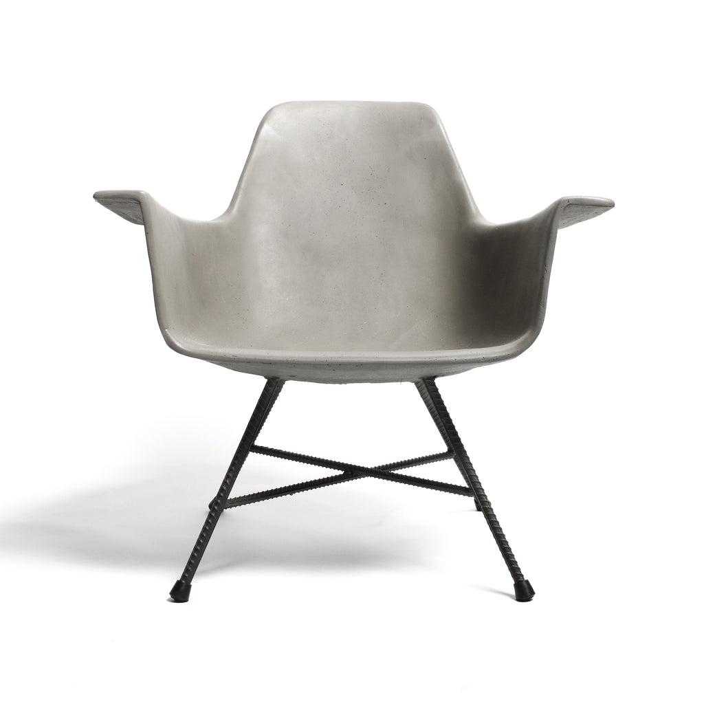 concrete low armchair