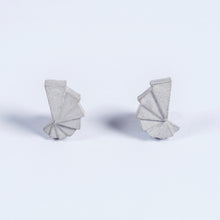 concrete micro fan earrings