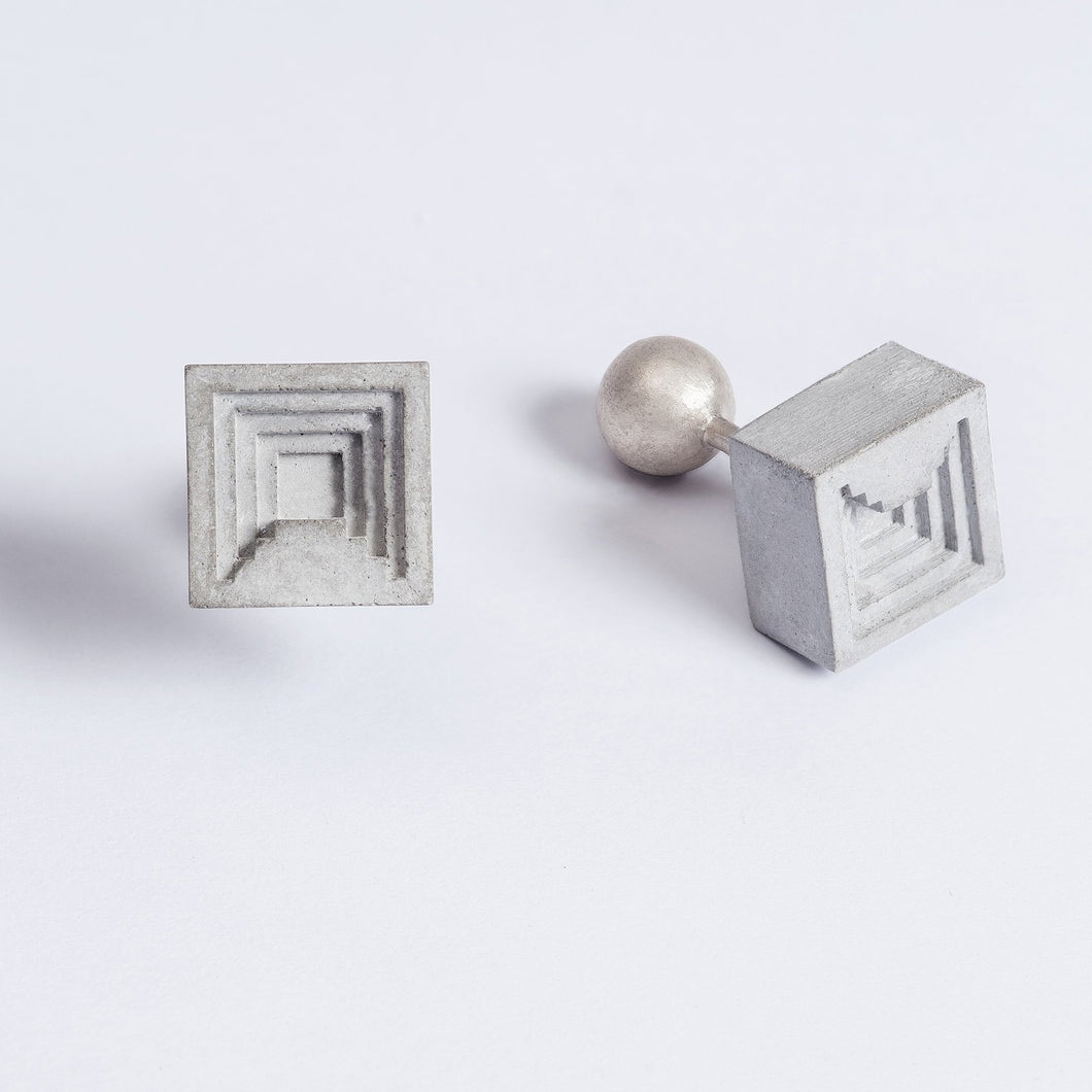 concrete micro ledge cufflinks