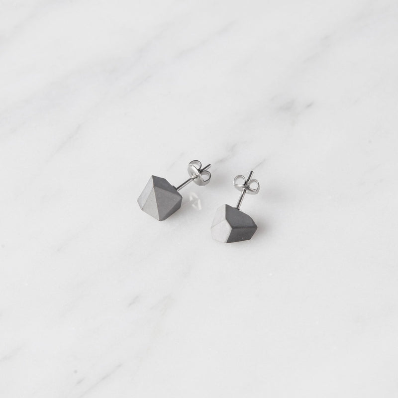 concrete rock earring