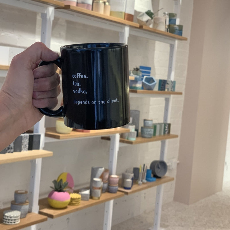 concrete love mug  //  black