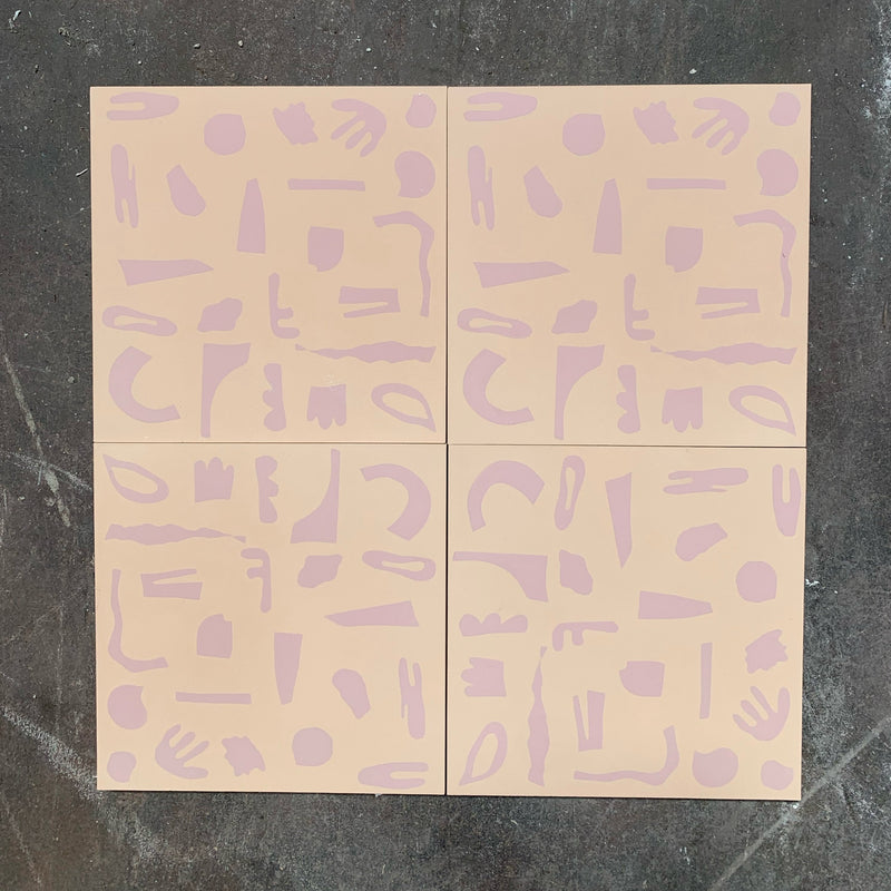 mono beige // box of 13 tiles // alex proba x