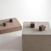 concrete + sterling silver earrings