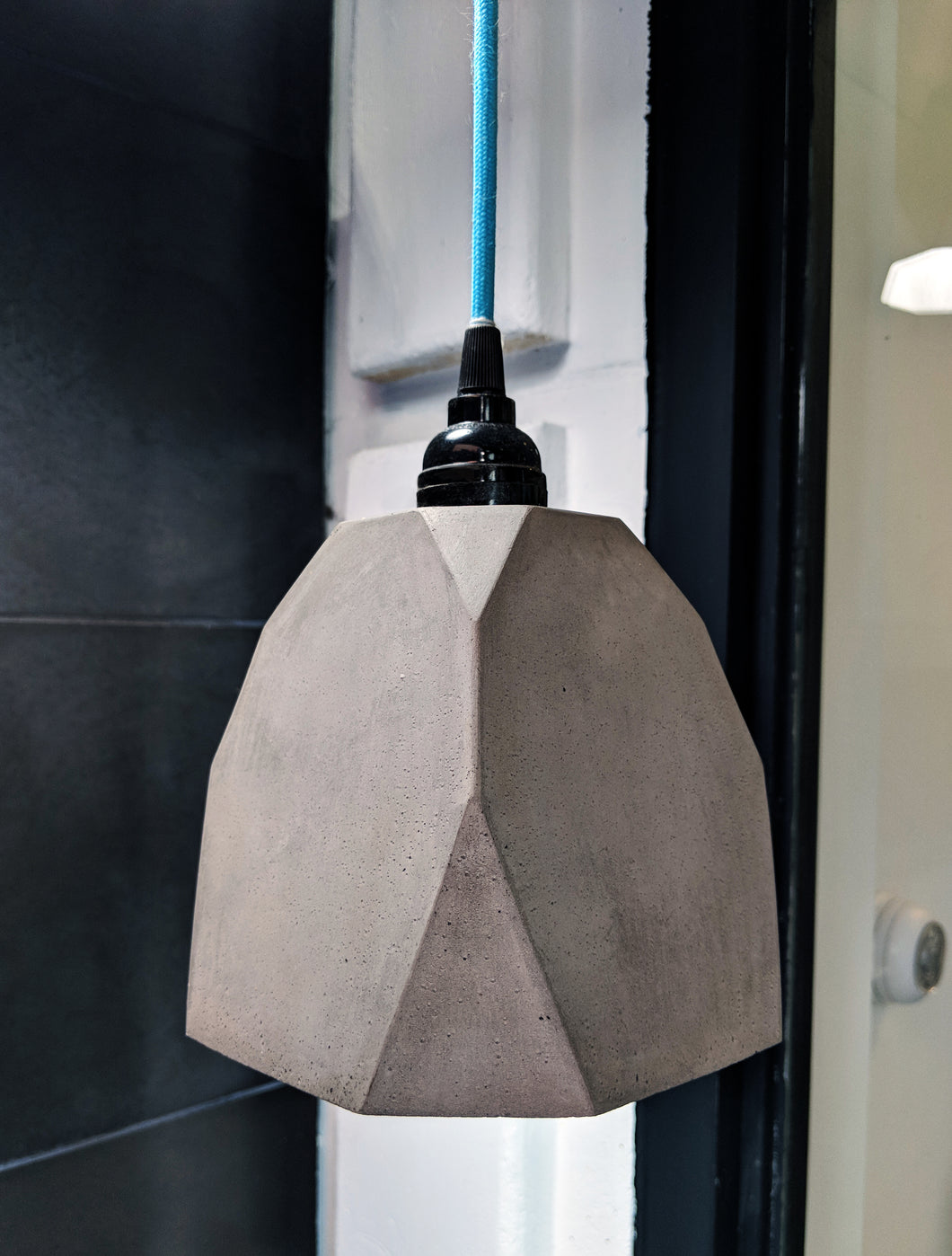concrete geometric pendant lights