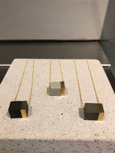 concrete gold necklace large block