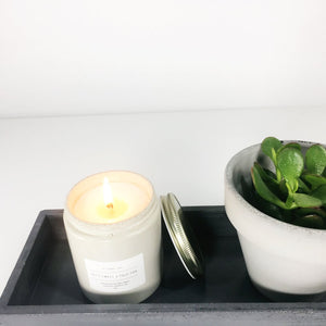 concrete jar candles // orchid + salt