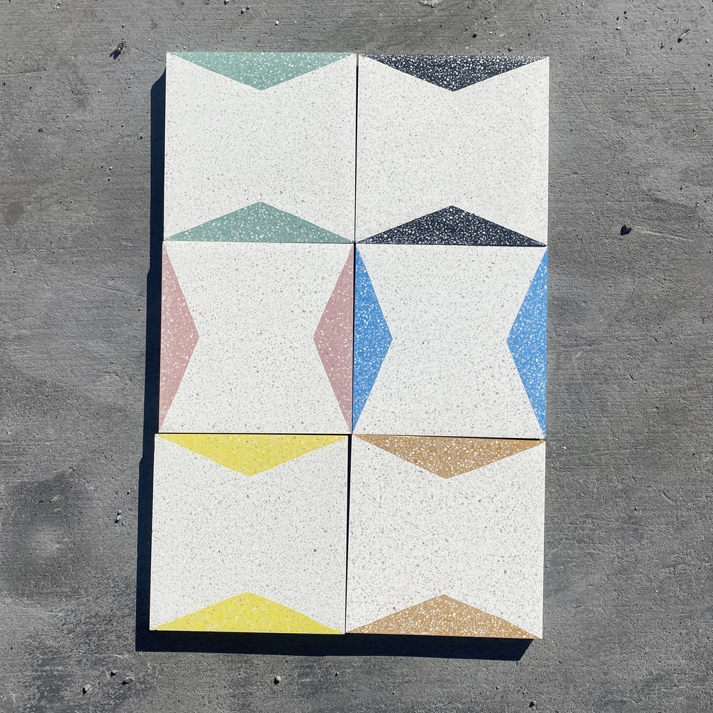 connected trap  //  box of 13  //  geo x terrazzo