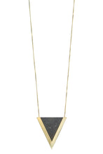 concrete triangle necklace