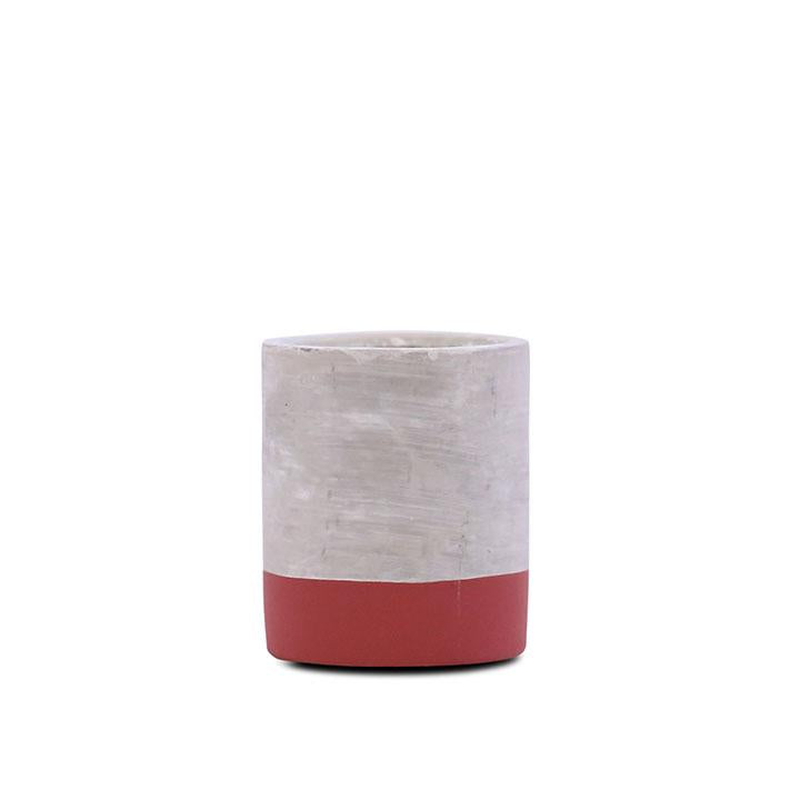concrete fragranced candle // cranberry + rose