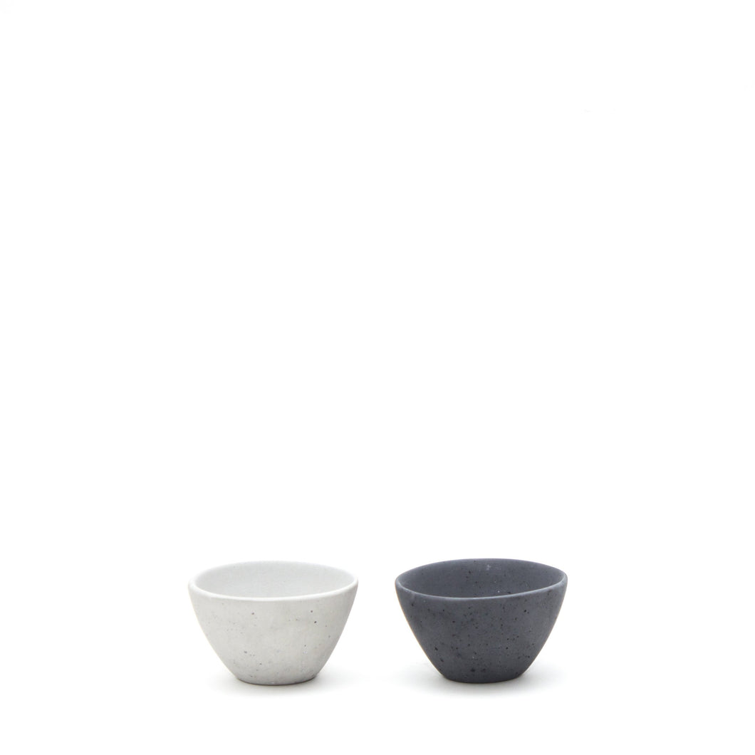 concrete marbled salt + pepper pinchers