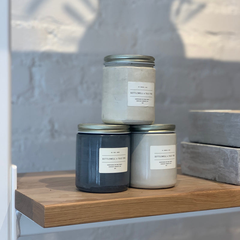 cedar + cypress // concrete jar candles
