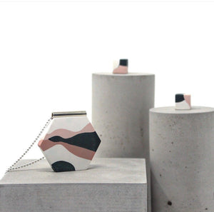 concrete jesmonite jewellery set