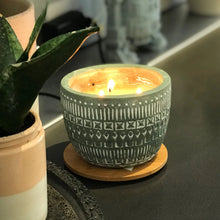concrete etched candle // bergamot + fresh fig