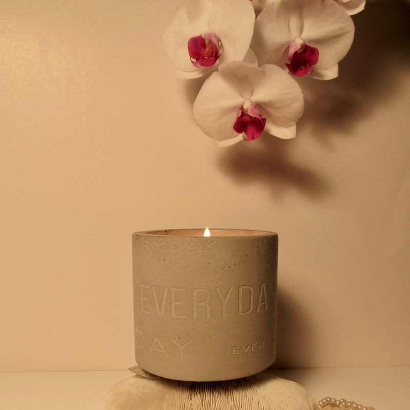 concrete detailed candle