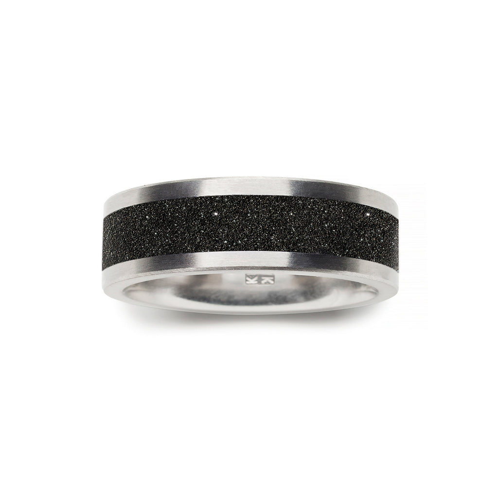concrete + diamond dust ring