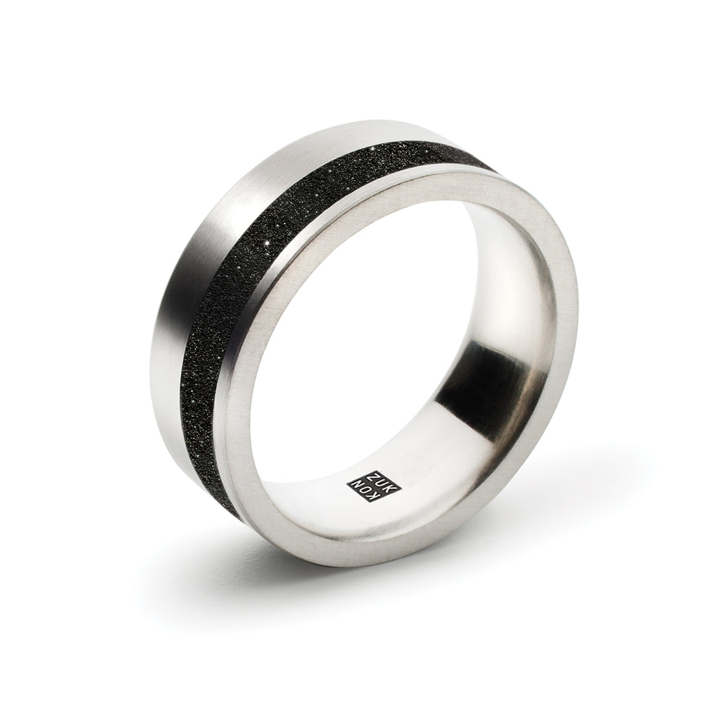 concrete diamond dust offset ring