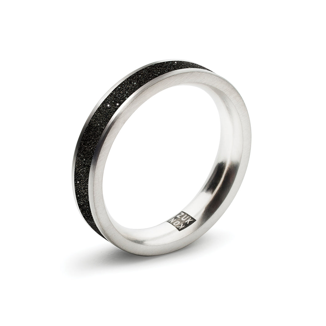 concrete diamond dust thin ring