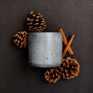 concrete candle with double wick - spa day
