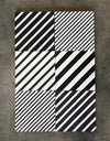 even diagonal lines  //  box of 12  // geo x