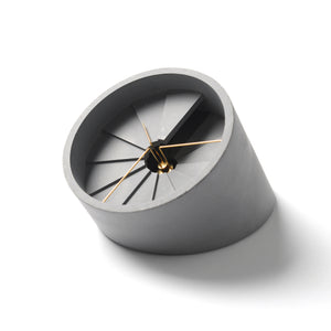 concrete dimensional desk clock