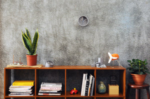 concrete dimensional wall clock