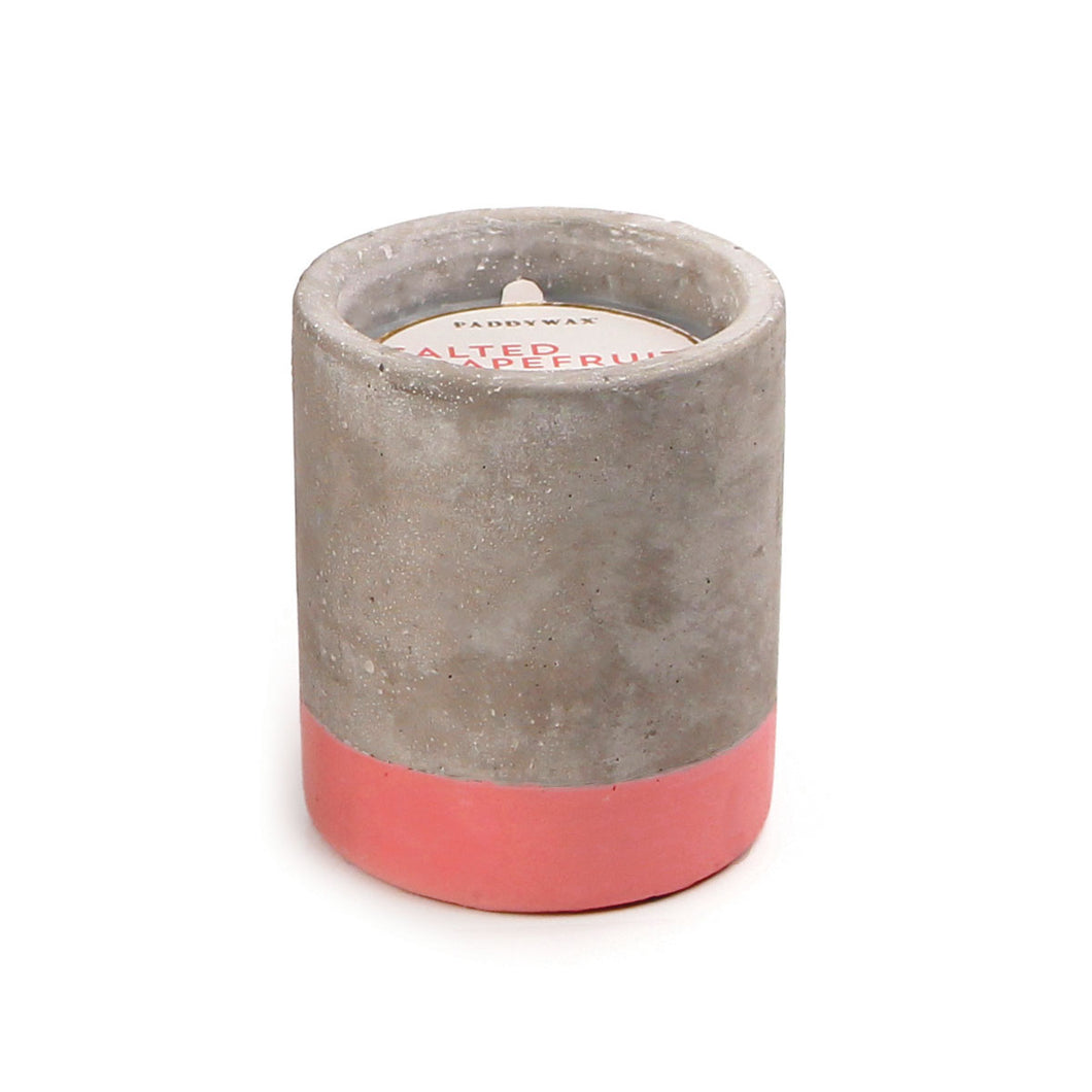 salted grapefruit // concrete fragranced candle
