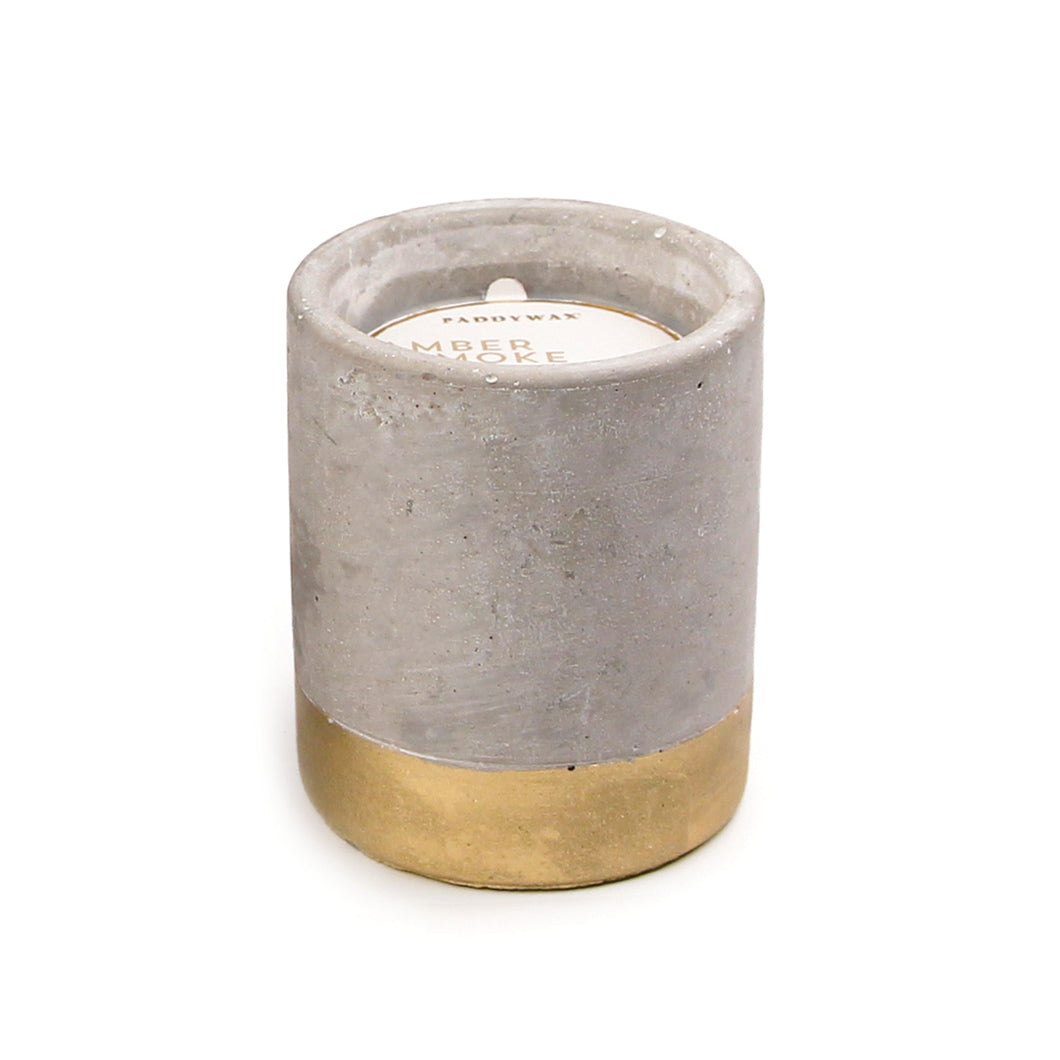 concrete fragranced candle // amber + smoke