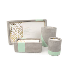concrete fragranced candle // sea salt + sage