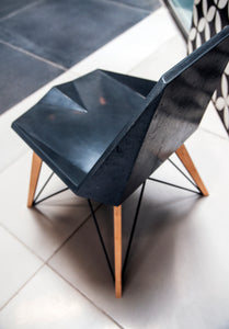 concrete industrial chairs