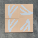 coral // box of 13 tiles // alex proba x
