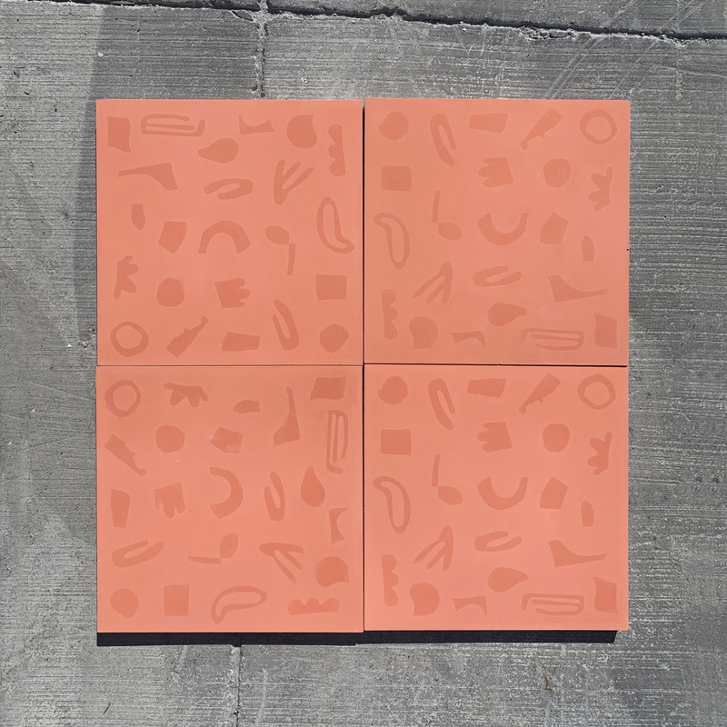 mono coral // box of 13 tiles // alex proba x