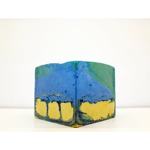 concrete colorful square vessel