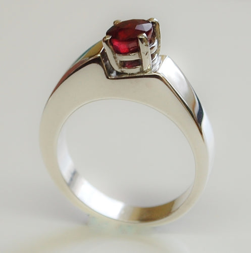 Step Up - Ruby Sterling silver ring