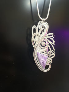 Celebration - Charoite in Sterling silver filigree  SOLD