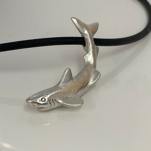 Potential -Shark pendant in Sterling silver or Bronze