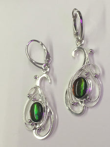 Chameleon.  Alberta Ammolite earrings