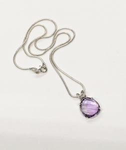 Simplicity - Amethyst pendant in Sterling silver