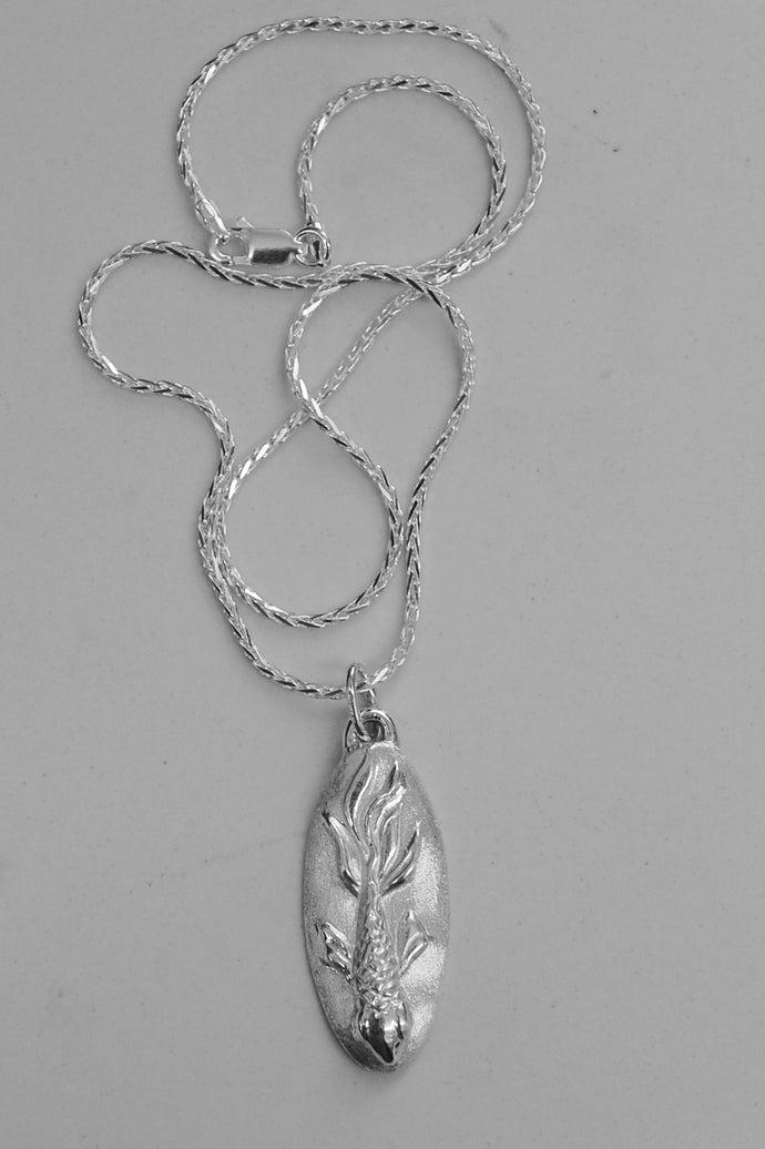 Playing Koi - Sterling silver Koi Fish pendant/necklace